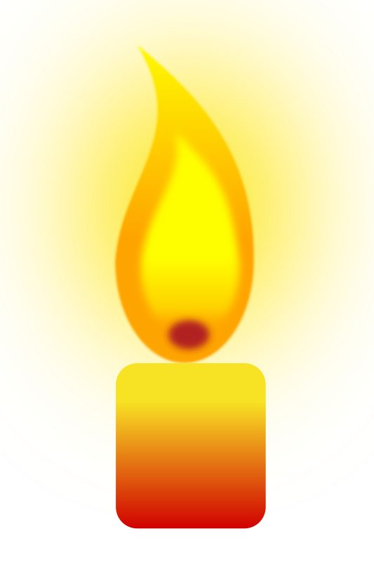 Burning Candle by jilagan - Experimental candle flame using Gaussian Blur. Note: You will need to download and view using Inkscape .45.1 to see the blur effect.