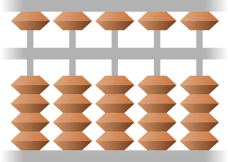 Clipart - abacus (Japanese)