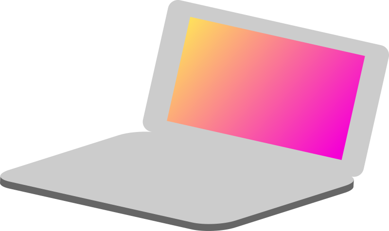 laptop simple icon by cmy