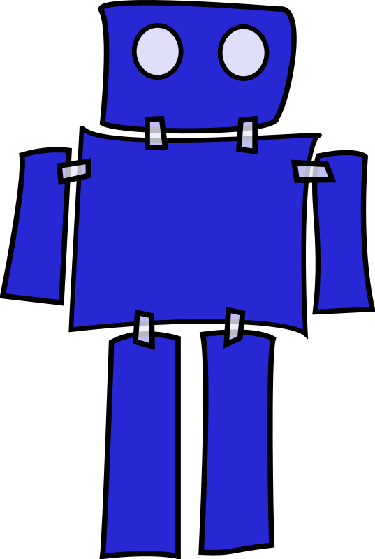 blue robot by mcol -
