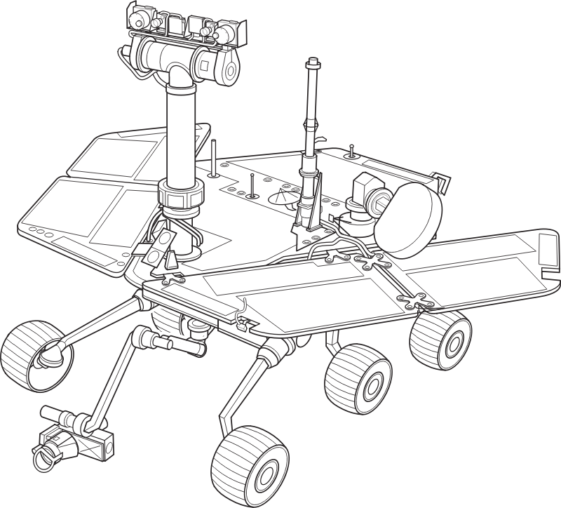 Mars Exploration Rover by johnny_automatic - This is a public domain drawing of Nasa's Mars Exploration Rover.