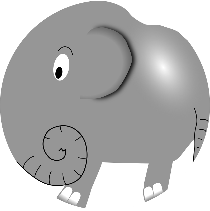 Elephant - Funny Little Cartoon by palomaironique