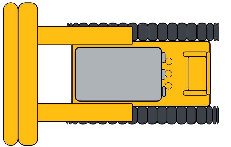 Simple yellow bulldozer by system25 - This is a simple yellow bulldozer (top view).