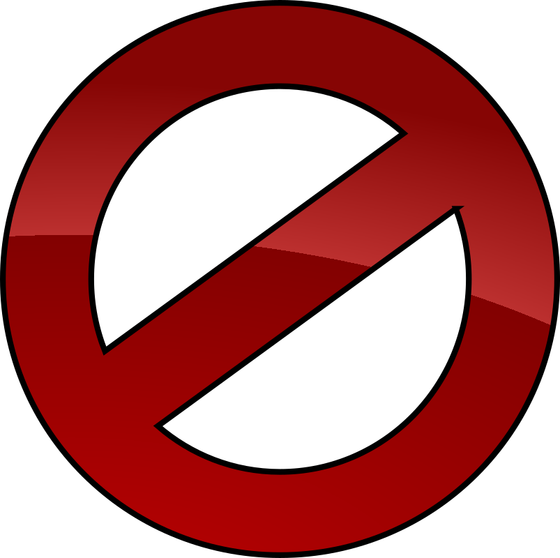 Denied by chovynz - A cancel or denied icon, inspired by ghostbusters logo. This is a single object, with gradient and outline applied.