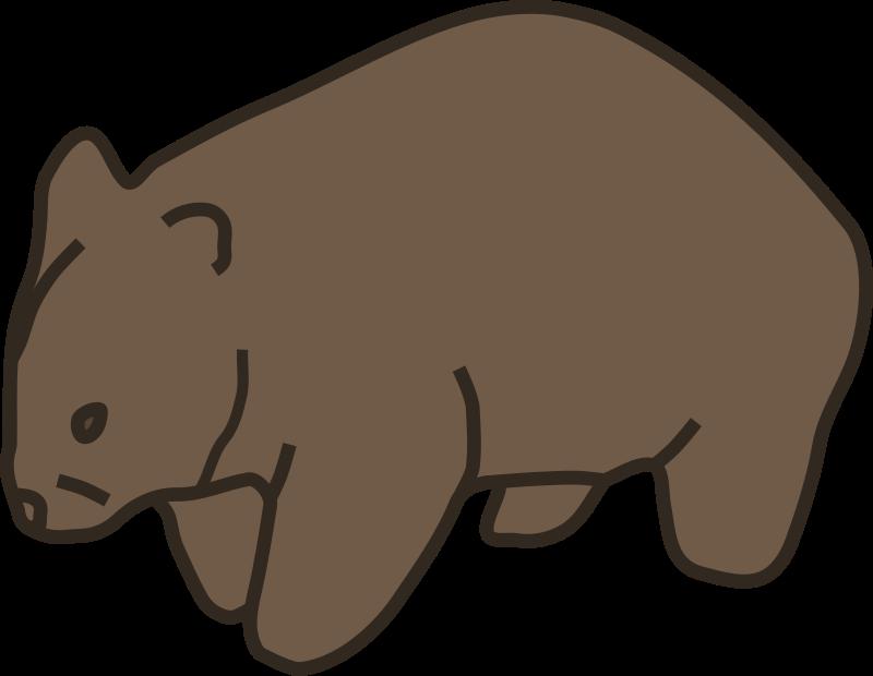Clipart - Wombat