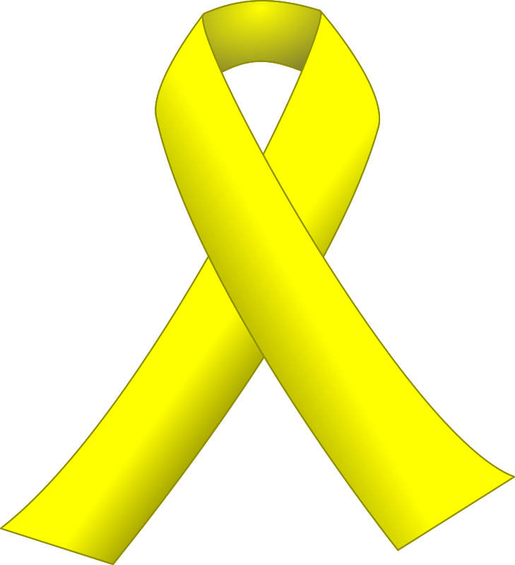 yellow ribbon coloring pages - photo #20