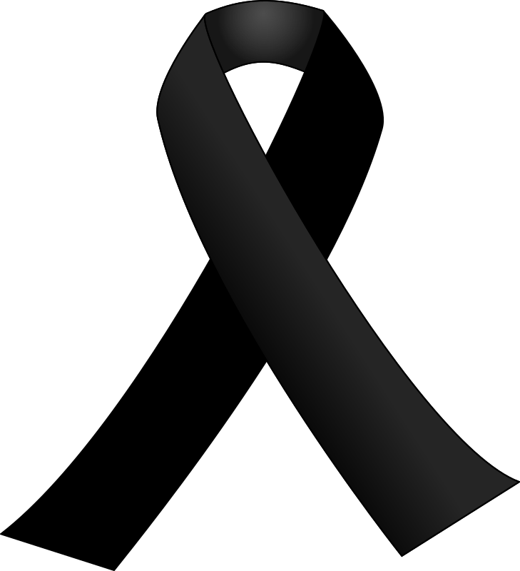 Black ribbon by J_Alves - A black awareness ribbon, usually employed in mourning situations. Drawn in Inkscape.