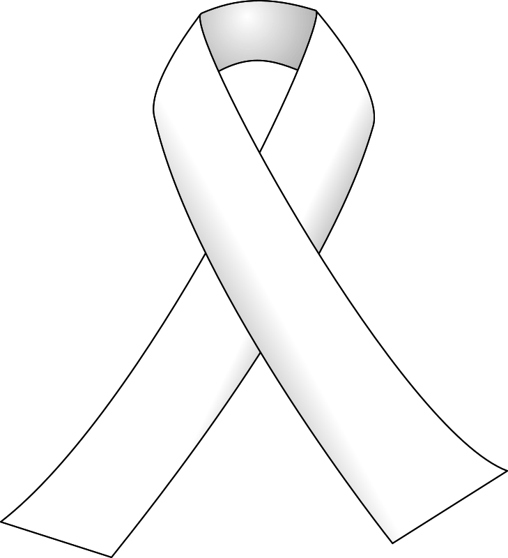 White ribbon by J_Alves - A white awareness ribbon, usually employed in gender violence awareness campaigns. Drawn in Inkscape.