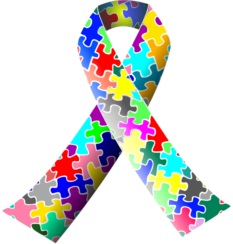 "Autism (puzzle) ribbon by J_Alves - A ""puzzle"" awareness ribbon, employed in autism awareness campaigns. Drawn in Inkscape."