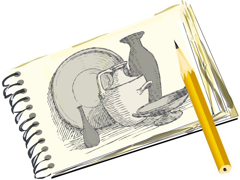 Sketchpad with Still Life by eady -