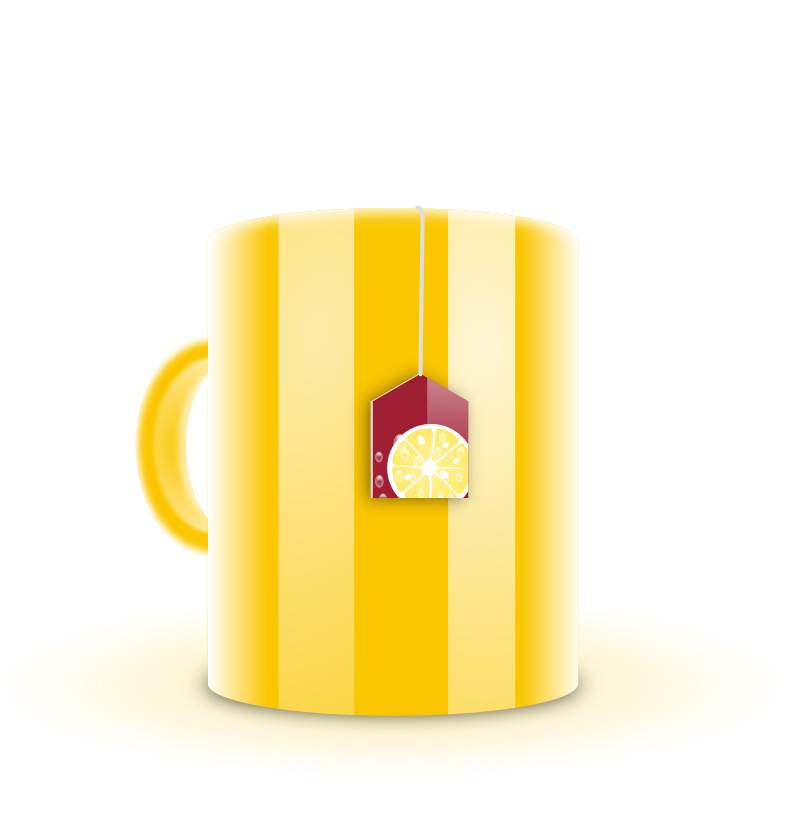 Clipart - Mug of tea