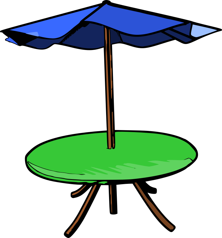 Table Umbrella by mazeo - A table with umbrella.