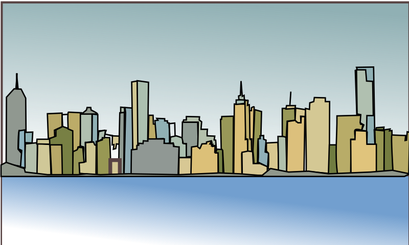 Melbourne-skyline by netalloy - Skyline Illustrations and  Real Estate Clip art by netalloy in public domain