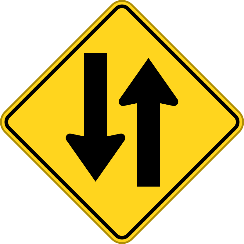 to way warning sign by voyeg3r - trafic sign