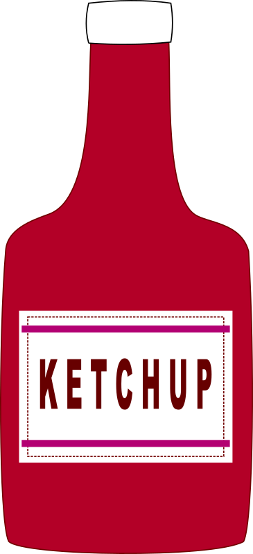 Ketchup bottle by J_Alves - A simple ketchup bottle. Drawn in Inkscape.
