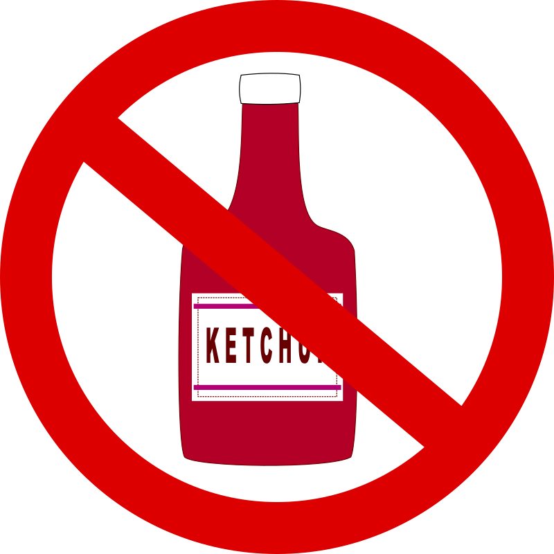 "Ketchup forbidden by J_Alves - A ""ketchup not allowed"" drawing, made in Inkscape."