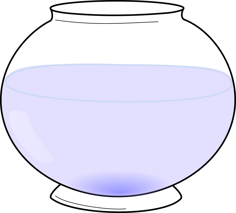 Fishbowl by J_Alves - A simple fishbowl, with water only. Drawn in Inkscape.