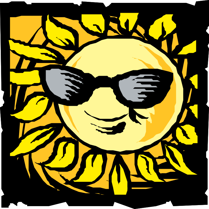 sun in shades by johnny_automatic - a drawing of the sun wearing sunglasses from a Nasa drawing