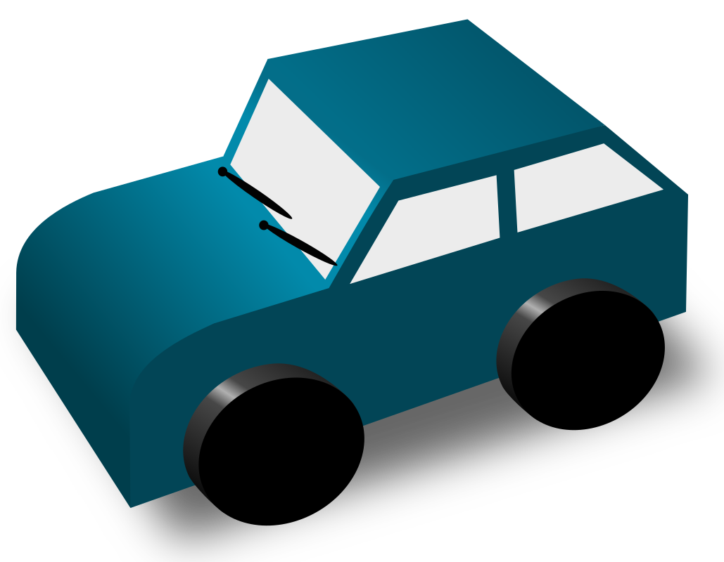 Cartoon Car by DTRave - A cartoon-car I drew in Inkscape.