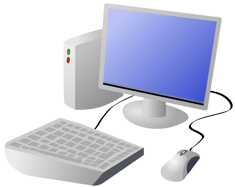 Cartoon Computer and Desktop by DTRave