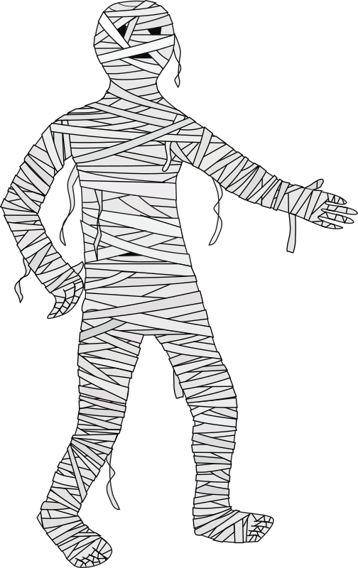 Mummy by J_Alves - A somewhat friendly cartoon mummy. Drawn in Inkscape.
