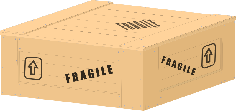 Wood crate w/ writing by J_Alves - A wood crate with some writing in it. Drawn in Inkscape.