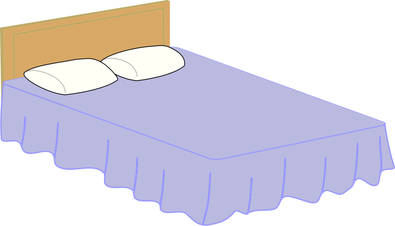 Clipart - Bed