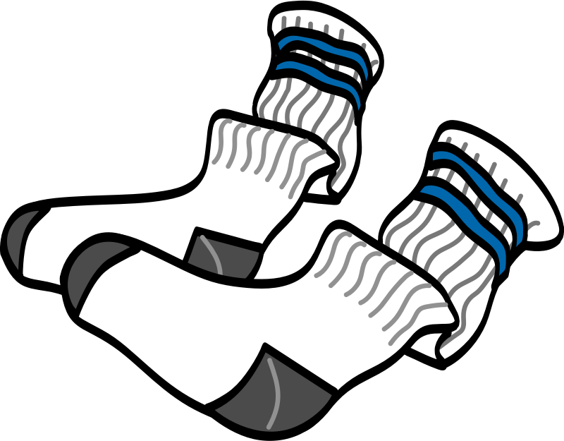 athletic crew socks by johnny_automatic - a simple drawing of a pair of athletic crew socks from a NASA activity book