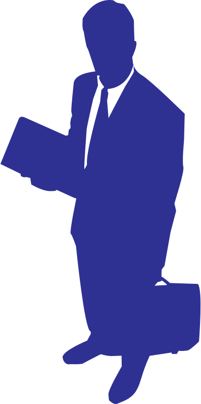 businessman by shokunin - Businessman silhouette in blue.