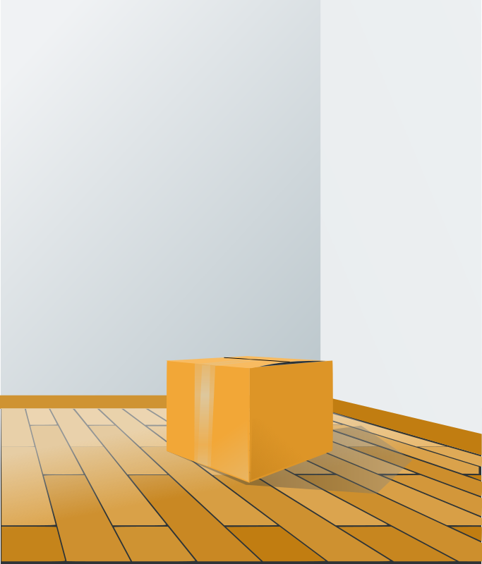box over wood floor by rg1024
