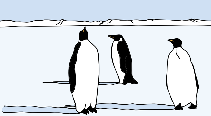penguins by johnny_automatic - penguins on the ice from a Nasa drawing