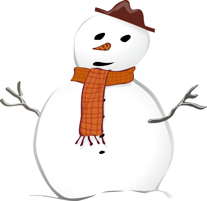 Snowman by TheresaKnott - Christmas is coming so I thought I'd draw some clipart for Christmas cards.
