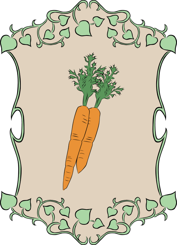Garden Sign Carrots by Gerald_G - My idea for the 2010 spring project was to create a set of signs that could represent marker signs in someones garden as they plant the seeds. Spring is gardening time, so that's how it fits the theme.   I was unable to complete as many vegetables as I had hoped, but I can add them here in OpenClipart as time allows me to create them.