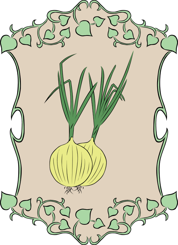 Garden Sign Onion by Gerald_G - My idea for the 2010 spring project was to create a set of signs that could represent marker signs in someones garden as they plant the seeds. Spring is gardening time, so that's how it fits the theme.   I was unable to complete as many vegetables as I had hoped, but I can add them here in OpenClipart as time allows me to create them.