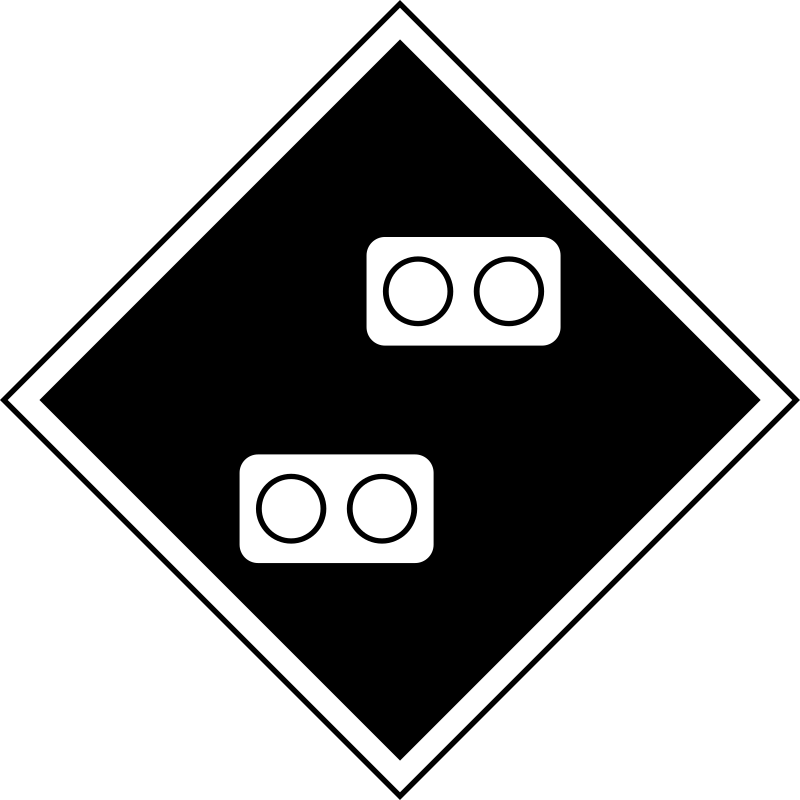 "(GD-13) sign ""Permanent sign - Attention! the gap in electricity supply» by rones - Russian (Soviet) signs of travel and signaling railways. (GD-13) Знак «Постоянный сигнальный знак - Внимание! Токораздел.»"