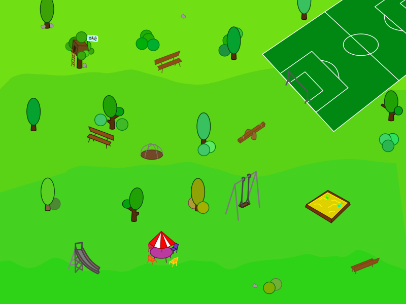 "Park (alternative version) by qubodup - Made long ago for  <a href=""http://github.com/kiba/playground-wars"">Playground Wars</a>"