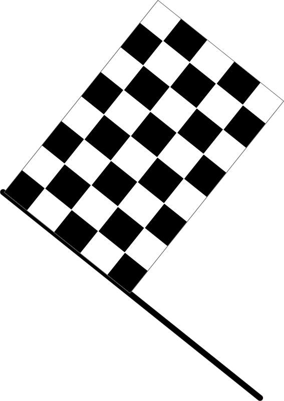 Checkered flag by J_Alves - The checkered flag (flat version) symbolizing the end of a car race. Drawn in Inkscape.