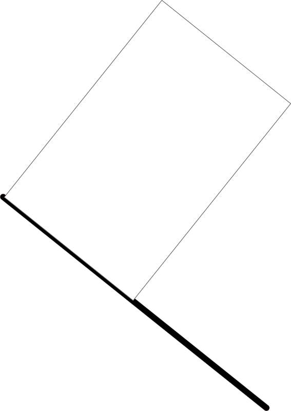 White flag by J_Alves - A white flag, meaning slow-moving vehicle ahead, slow down (in F1). Drawn in Inkscape.