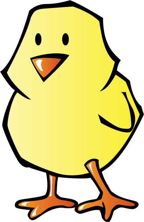 Chick by pianoBrad - A chick, completed for the Spring 2010 Clip Art Package Release