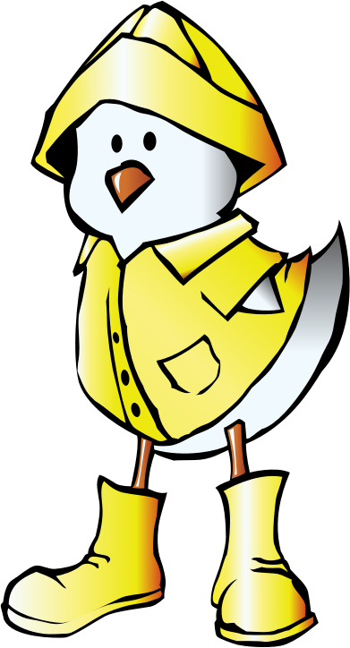 Chick with Raincoat by pianoBrad - A Chick dressed in a raincoat, created for the Spring 2010 Clip Art Package Release.