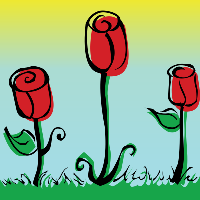 Roses by pianoBrad - Roses, created for the Spring 2010 Clip Art Package Release.