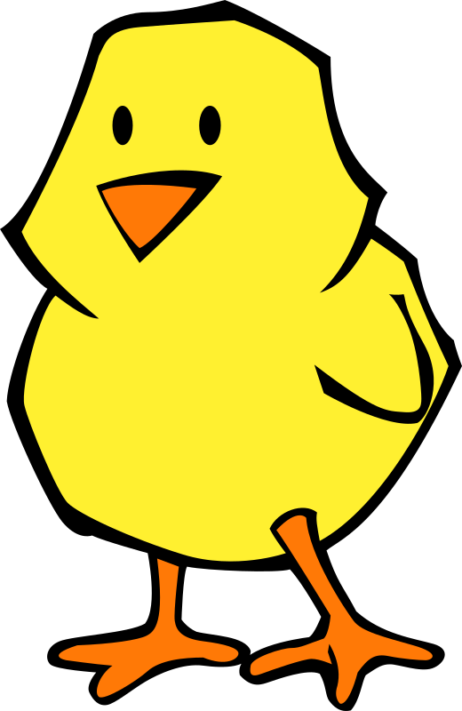 Chick flat colors by qubodup - -gradients