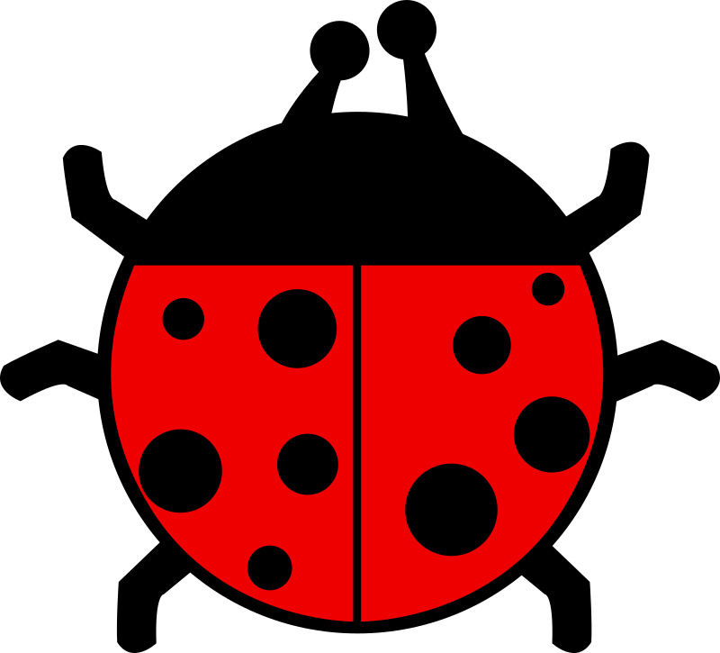 Ladybug flat colors by qubodup - -gradients +red
