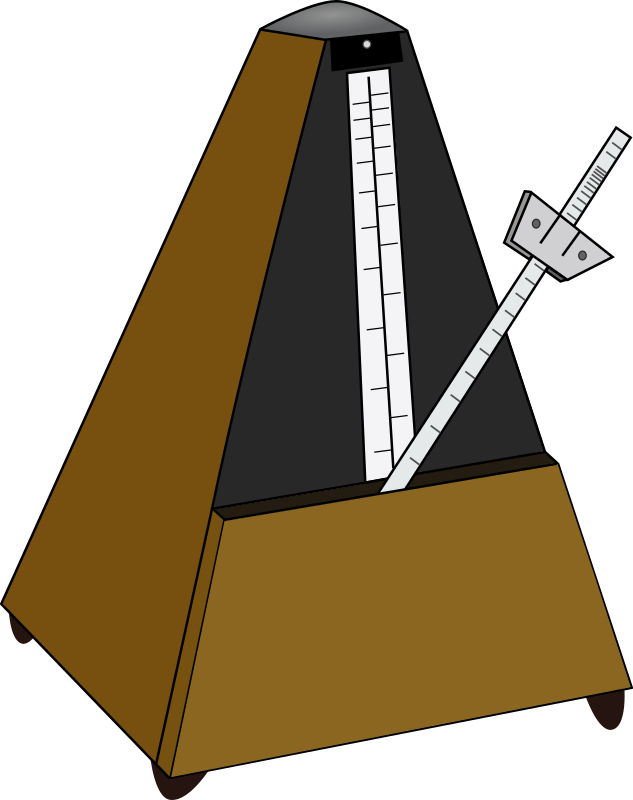 Metronome by J_Alves - An old-style metronome. Drawn in Inkscape.