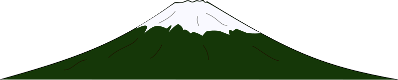 Mountain by J_Alves - A cartoon mountain with snowy cap. Drawn in Inkscape.
