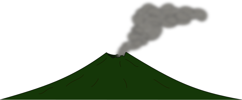 Volcano 2 by J_Alves - A cartoon volcano, only smoke and no lava. Drawn in Inkscape.