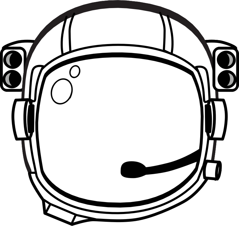 astronaut's helmet by johnny_automatic - black and white drawing of an astronaut's helmet from a NASA coloring page