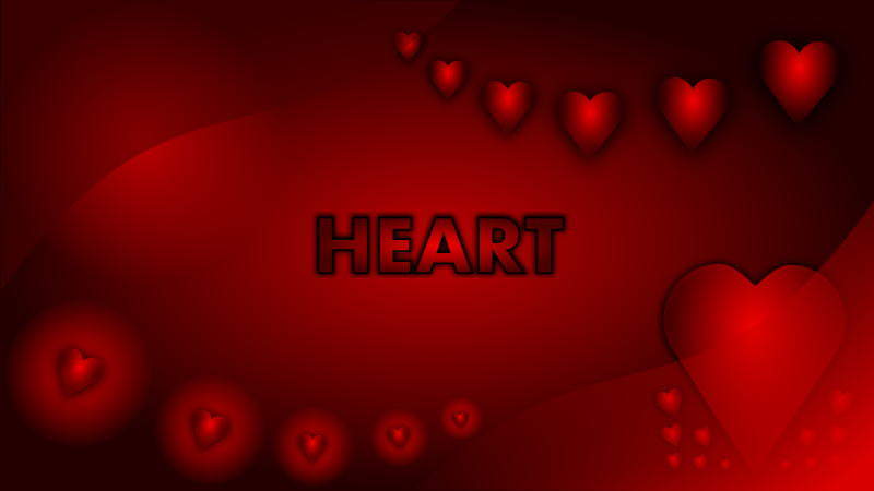 Valentine Heart Wallpaper by mystica - A wallpaper that i have made. it´s a 16:9 vector graphics and can be exported to full HD 1080 .png picture. It is made in InkScape!! ...enjoy!! :-)