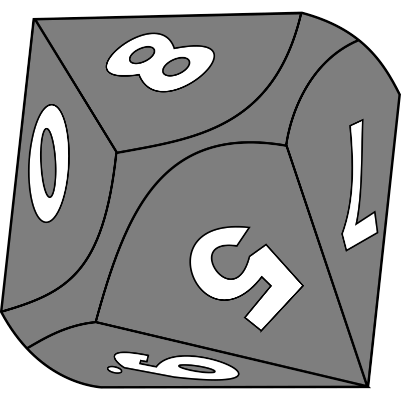 10-sided die by DarkWizarD - A 10-sided die. You can change the color easily.