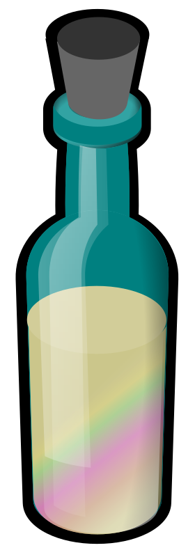 Bottle of Colored Sand by eady - A bottle with a cork in it.